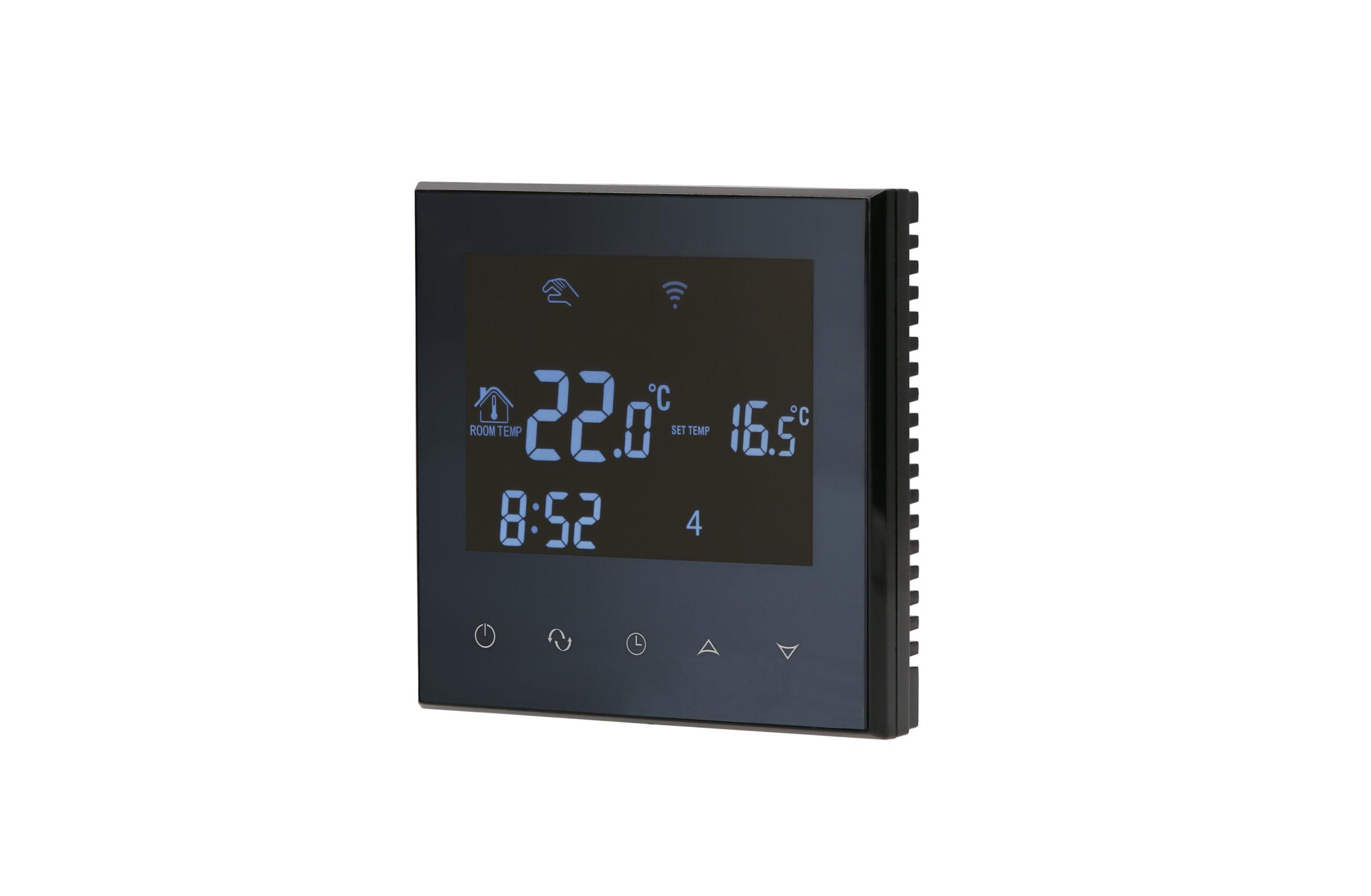 Aluzan černý termostat E-16 - Produktová fotografie PF360